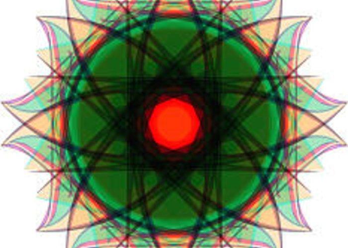 Mandala Greeting Card featuring the digital art Mandalas 22 by Andres Alcalde
