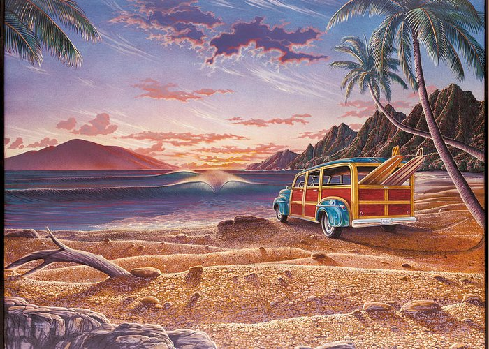 Hawaii Greeting Card featuring the painting Mango Bay by Richard Fields