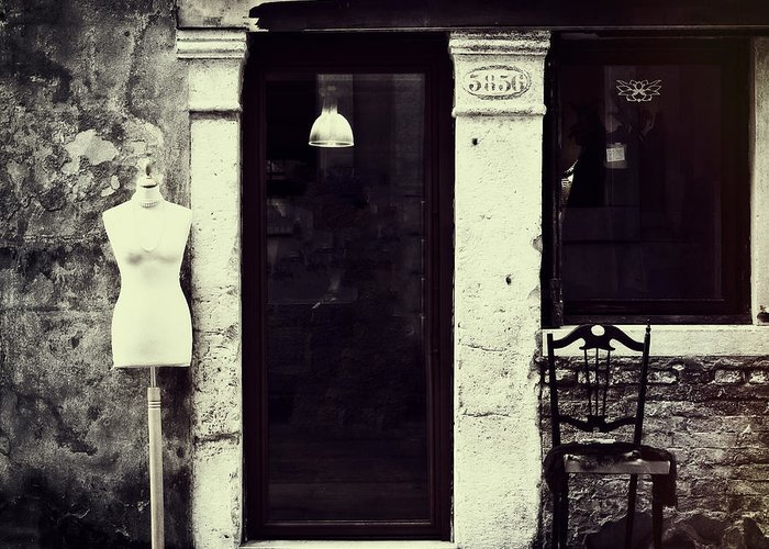 Mannequin Greeting Card featuring the photograph Mannequin by Joana Kruse