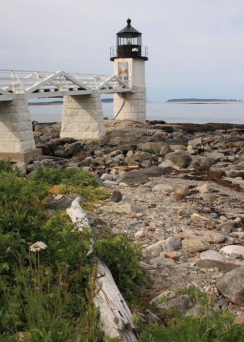 Seascape Greeting Card featuring the photograph Marshall Point Lighthouse by Doug Mills