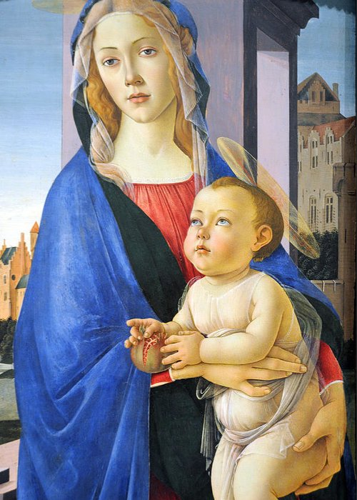 Virgin Greeting Card featuring the photograph Mary With Baby Jesus by Munir Alawi
