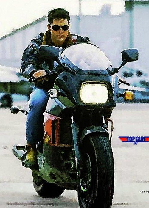 Maverick Top Gun Kawasaki Ninja 900 Tom Cruise Greeting