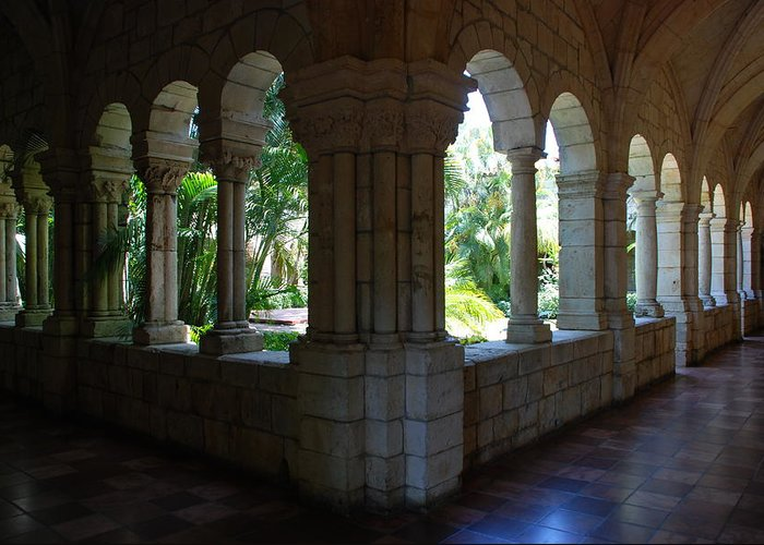 Architecture Greeting Card featuring the photograph Miami Monastery by Rob Hans
