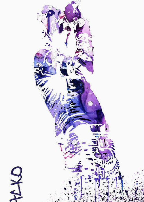 Michael Jackson Abstract Art For Sale Greeting Cards