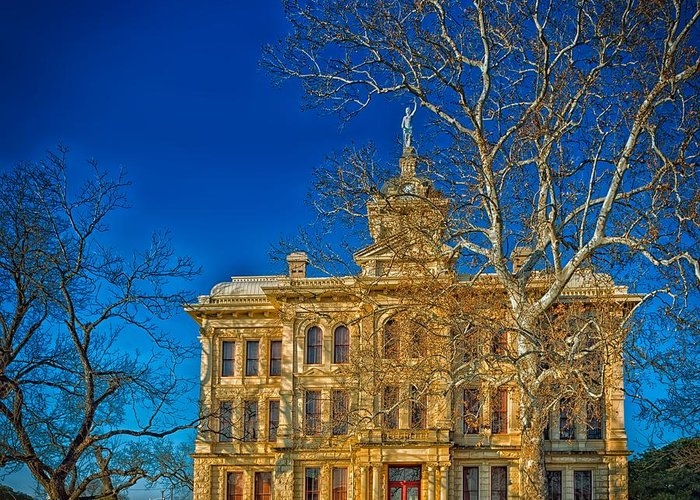 Milam County Greeting Card featuring the photograph Milam County Courthouse by Mountain Dreams