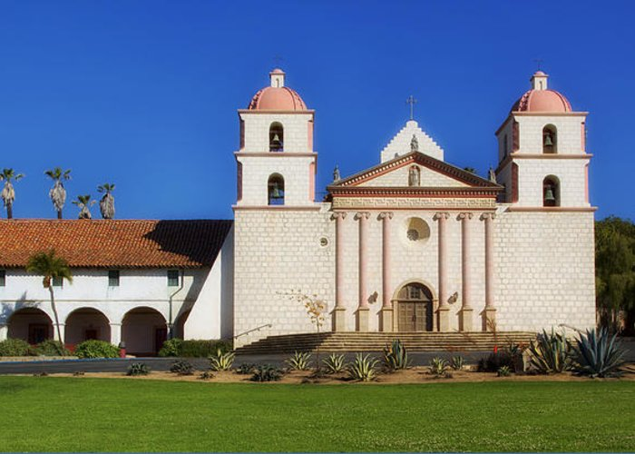 Mission Santa Barbara Greeting Card featuring the photograph Mission Santa Barbara by Mountain Dreams