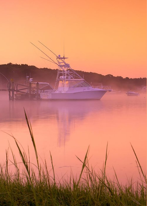 Mist Greeting Card featuring the photograph Misty Morning Osterville Cape Cod by Matt Suess