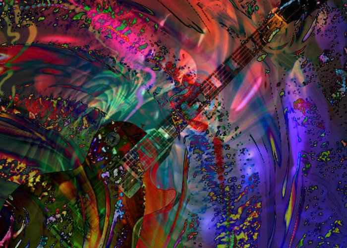 Gibson Greeting Card featuring the digital art More Than A Feeling by Kevin Caudill