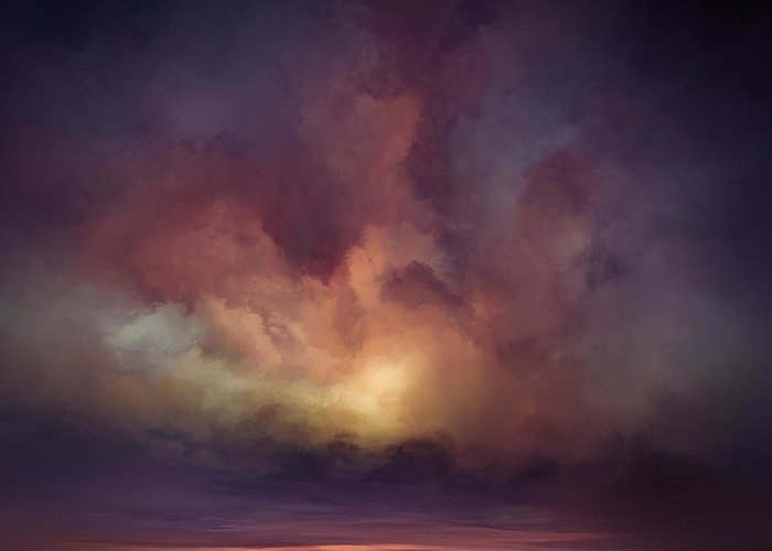 Lc Bailey Greeting Card featuring the mixed media Morning Sunrise by Lonnie Christopher