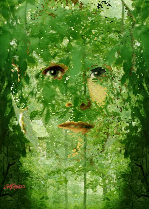 Lady Greeting Card featuring the digital art Mother Nature by Seth Weaver