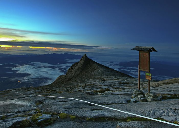 Peak Greeting Card featuring the photograph Mount Kinabalu by MotHaiBaPhoto Prints