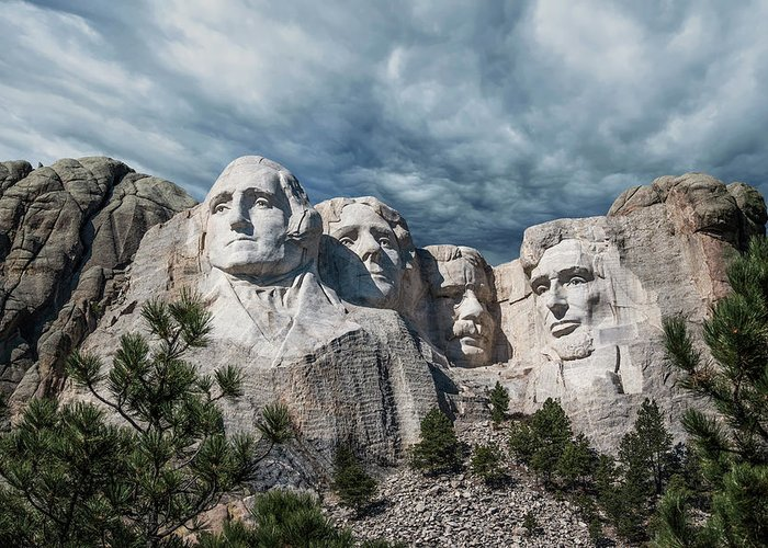 Mt. Rushmore Greeting Card featuring the photograph Mount Rushmore II by Tom Mc Nemar