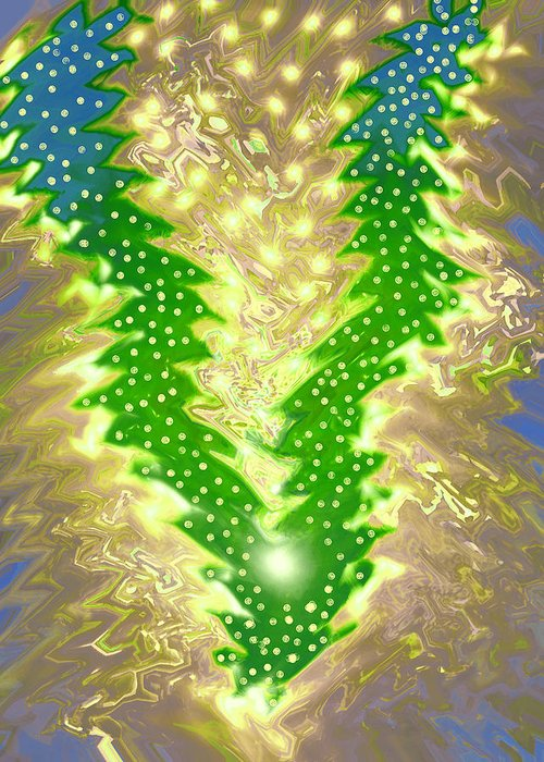 Moveonart! Digital Gallery Greeting Card featuring the digital art MoveOnArt Christmas 2009 Collection Victory Tree by Jacob Kanduch