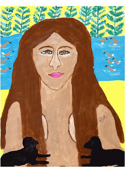 Greeting Card featuring the painting Naked Freedom Of Nature by Betty Roberts