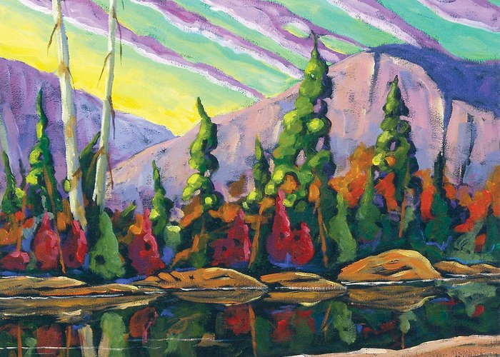 Art Greeting Card featuring the painting Nature Expression by Richard T Pranke