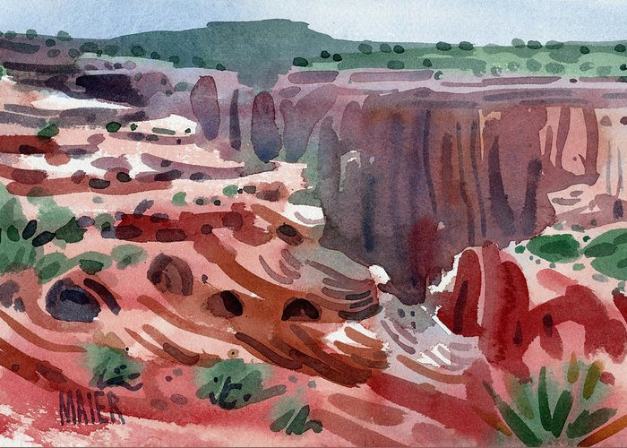 Canyon De Chelly Greeting Card featuring the painting Navajo Spirit by Donald Maier
