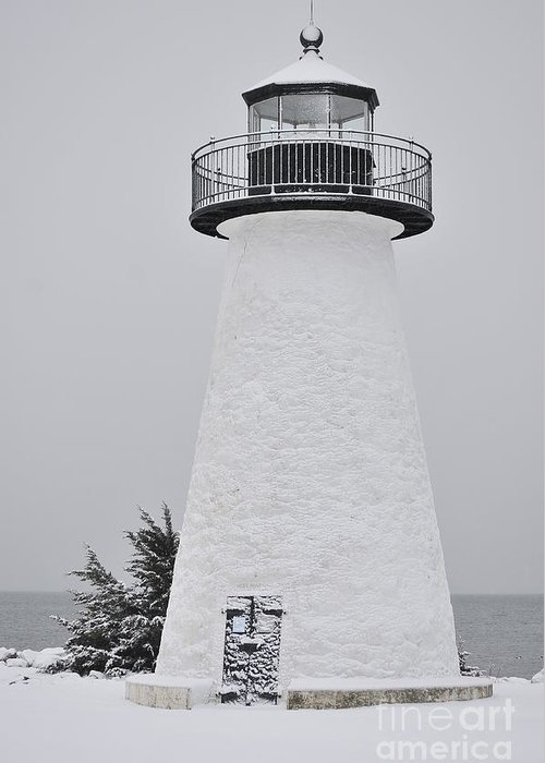 Neds Point Lighthouse Greeting Card featuring the photograph Neds Point Light by Catherine Reusch Daley