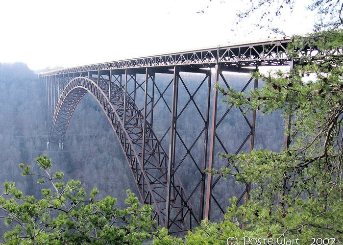 New River Gorge Bridge Greeting Card featuring the photograph New River Gorge Bridge by Carolyn Postelwait