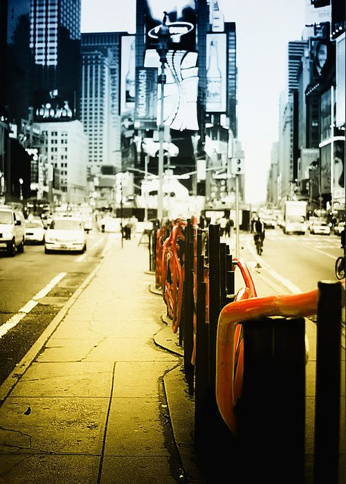 New York Times Square Greeting Card featuring the photograph New York Times Square by Dapixara Art