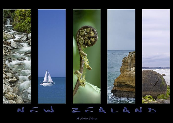 New Zealand Greeting Card featuring the photograph New Zealand by Andrea Cadwallader