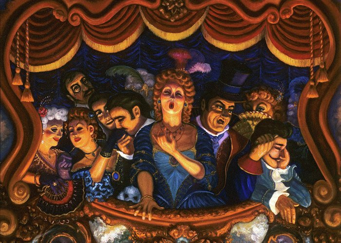 Opera Greeting Card featuring the painting Night At The Paris Opera by Scott Jones