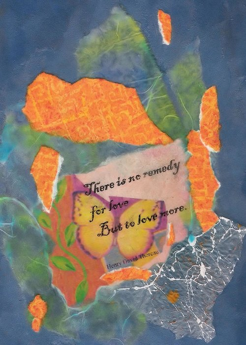 Mixed Media Greeting Card featuring the painting No Remedy by Tara Milliken