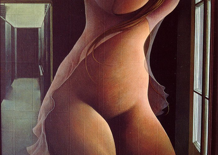 Feminin Torso Greeting Card featuring the painting Nocturnal Fantasy by James LeGros