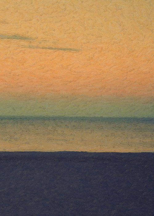 �not Quite Rothko� Collection By Serge Averbukh Greeting Card featuring the photograph Not quite Rothko - Breezy Twilight by Serge Averbukh
