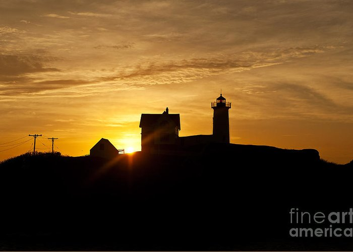 Cape Neddick Greeting Card featuring the photograph Nubble Lighthouse by John Greim