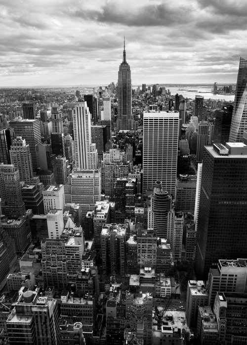 Ny Greeting Card featuring the photograph Nyc Downtown by Nina Papiorek