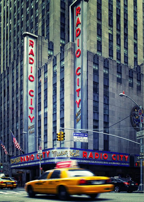 Ny Greeting Card featuring the photograph Nyc Radio City Music Hall by Nina Papiorek