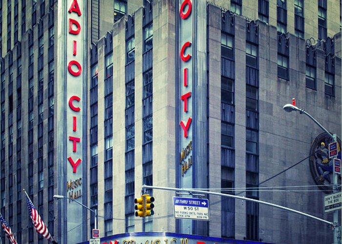 Ny Greeting Card featuring the photograph Nyc Radio City Music Hall by Nina Papiorek