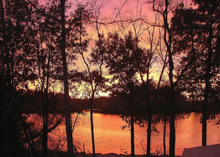 Greeting Card featuring the photograph Oct. Sunset by Luciana Seymour