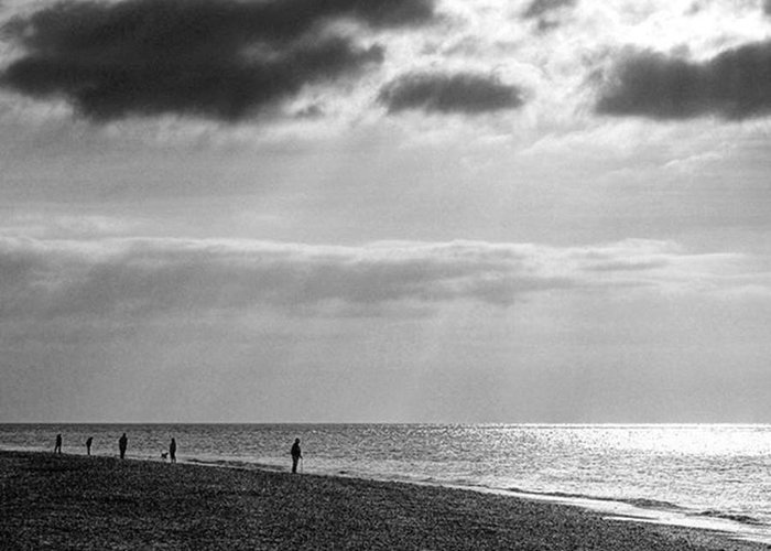 Landscapelovers Greeting Card featuring the photograph Old Hunstanton Beach, Norfolk by John Edwards