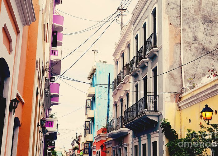 San Juan Greeting Card featuring the photograph Old San Juan Puerto Rico by Kim Fearheiley