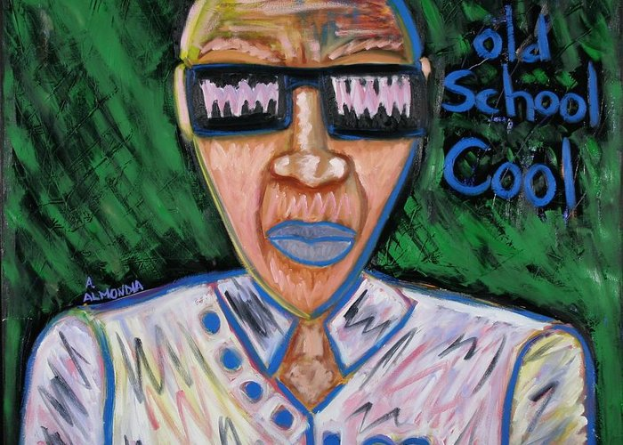 Old School Greeting Card featuring the painting Old School Cool by Albert Almondia