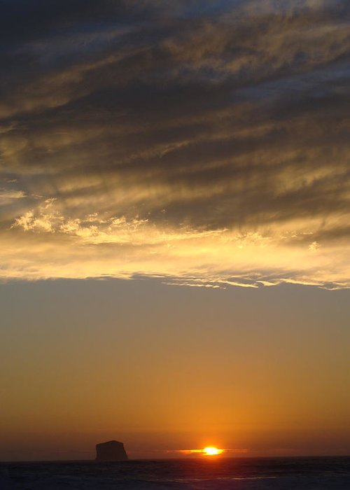 Landscape Greeting Card featuring the photograph Olympic Sunset by Ty Nichols
