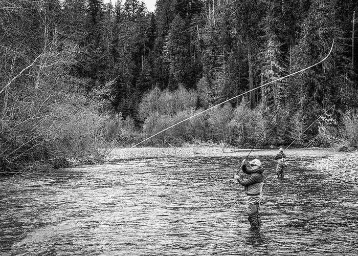 Flyfishing Greeting Card featuring the photograph On the River by Jason Brooks
