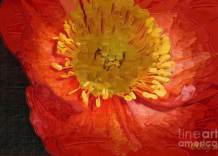 Poppies Greeting Card featuring the photograph Orange Poppy by Donna Bentley