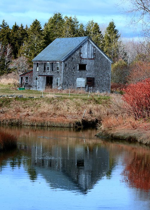 Fall Greeting Card featuring the photograph Owls Head Barn by Doug Mills