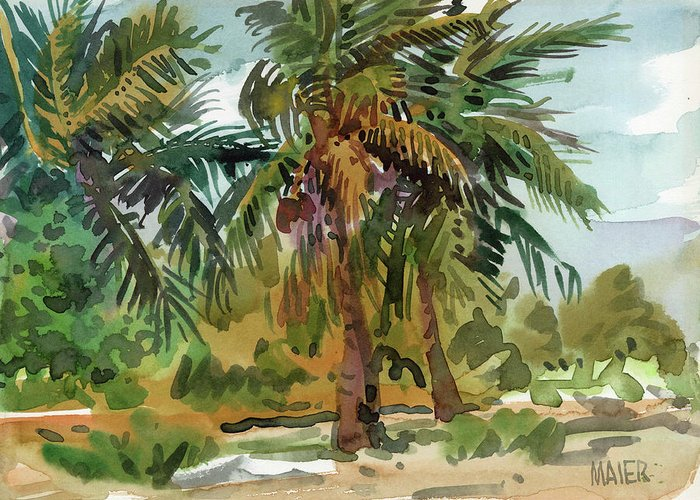 Palms Greeting Cards