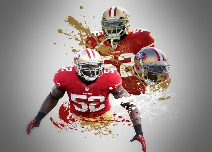 49ers Greeting Card featuring the photograph Patrick Willis 49ers by Joe Hamilton