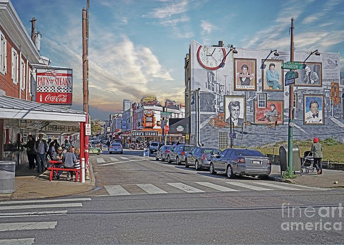 Pat's And Geno's Greeting Card featuring the photograph Pat's And Geno's by Jack Paolini