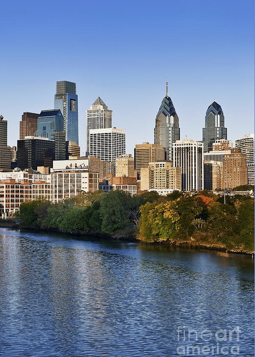 Pennsylvania Greeting Card featuring the photograph Philadelphia Skyline by John Greim