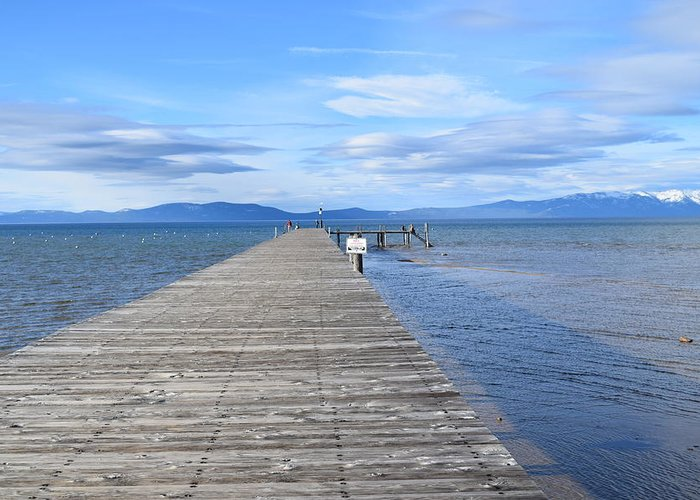 Lake Greeting Card featuring the photograph Pier by Christina McNee-Geiger