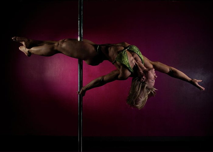 Strength Greeting Card featuring the photograph Pole Position 1 by Monte Arnold