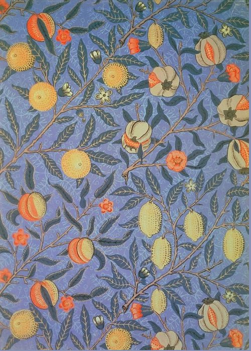 Artistic Greeting Card featuring the painting Pomegranate by William Morris