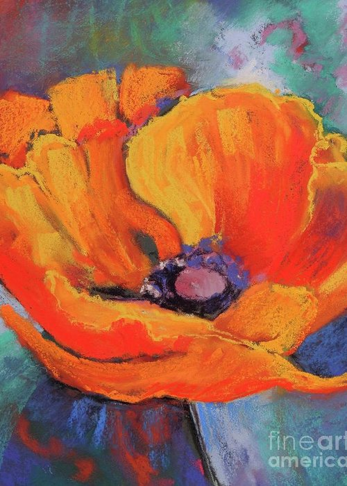 Poppy Greeting Card featuring the painting Poppy by Melinda Etzold