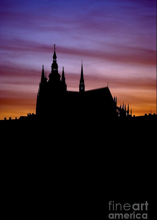Hradcany Greeting Card featuring the photograph Prague Castle by Michal Boubin