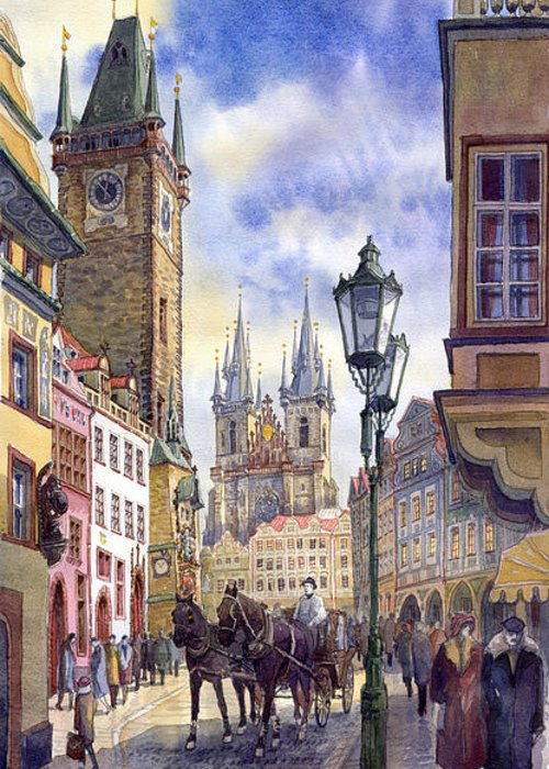 Old Town Greeting Cards